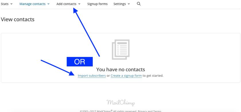 Mailchimp Lists 3
